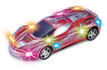haktoys light up rc car for kids boys girls with spectacular flashing led lights