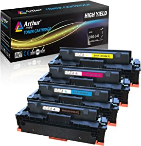 Arthur Imaging Compatible Toner Cartridge Replacement for Canon 046 046H for Color ImageCLASS MF735Cdw LBP654Cdw MF731Cdw MF733Cdw Laser Printer (Black Cyan Magenta Yellow,4-pk)