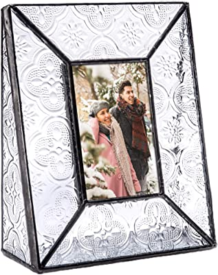 J Devlin Pic 126 Series Clear Vintage Stained Glass Picture Frame Assorted Sizes (2x3)