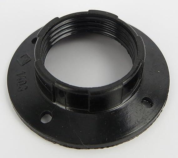 black for lamp socket rings and lamp screens or glass elements Set of 3 screw rings E14 plastic