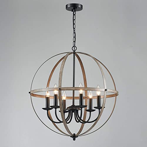 Saint Mossi 6-Light Rustic Chandelier,Traditional Chandelier