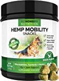 PetHonesty Hemp Hip and Joint Supplement for Dogs with Hemp Oil - Glucosamine Chondroitin for Dogs with Turmeric, MSM, Green Lipped Mussel, Dog Treats Support Improve Mobility, Reduces Arthritis 90 Ct