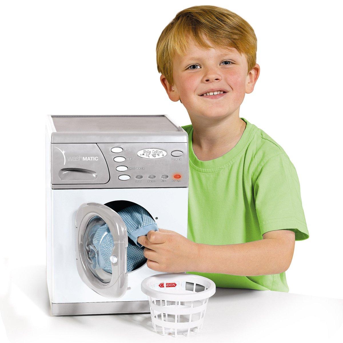 Charles Bentley Casdon 476 Model Electronic Toy Washer Washing Machine With Basket & Powder Box Age 3+ Years