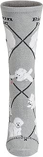 product image for Bichon Animal Socks On Gray 9-11
