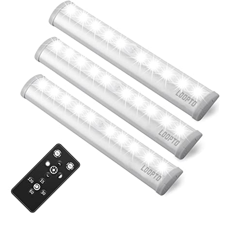 Beau LDOPTO Wireless Remote Control LED Light Battery Operated (3 Pack),  Dimmable LED Kitchen