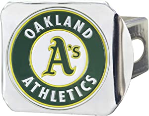 FANMATS 26671 MLB - Oakland Athletics Color Hitch Cover - Chrome