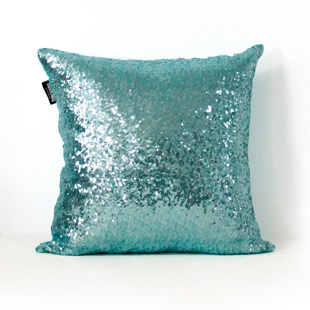 Amazon.com: AMAZLINEN(TM) Home Decor Sequin Throw Pillow Cover ...