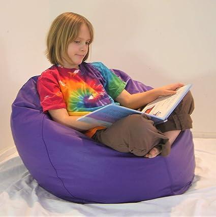 Remarkable Amazon Com Comfy Bean Beanbag Small Vinyl Purple Kitchen Frankydiablos Diy Chair Ideas Frankydiabloscom