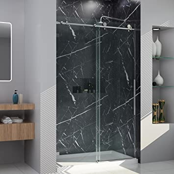 Elegant Showers 44 48 Inches W Fully Frameless Sliding Shower