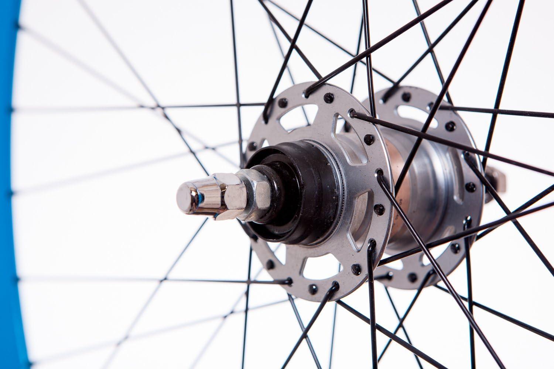 FireCloud Cycles Mango 700C Rear NEXUS 3 SPEED Wheel BLUE black spokes Deep Section SG-3R40