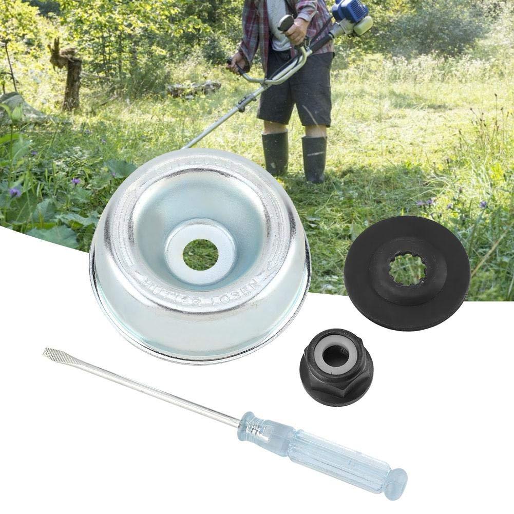 Rider Plate Jeffergarden Gardening Machine Lawnmower Stihl Blade Adapter Kit-Thrust Washer Maintenance Screwdriver Collar Nut Blade Adapter Attachment Maintenance Kit for Stihl String Trimmers