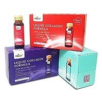 Heivy Liquid Collagen Supplement, Collagen Drink, Collagen Peptides, Hydrolyzed Marine Collagen,1 Month Bundle, Marine Collagen,3 Boxes