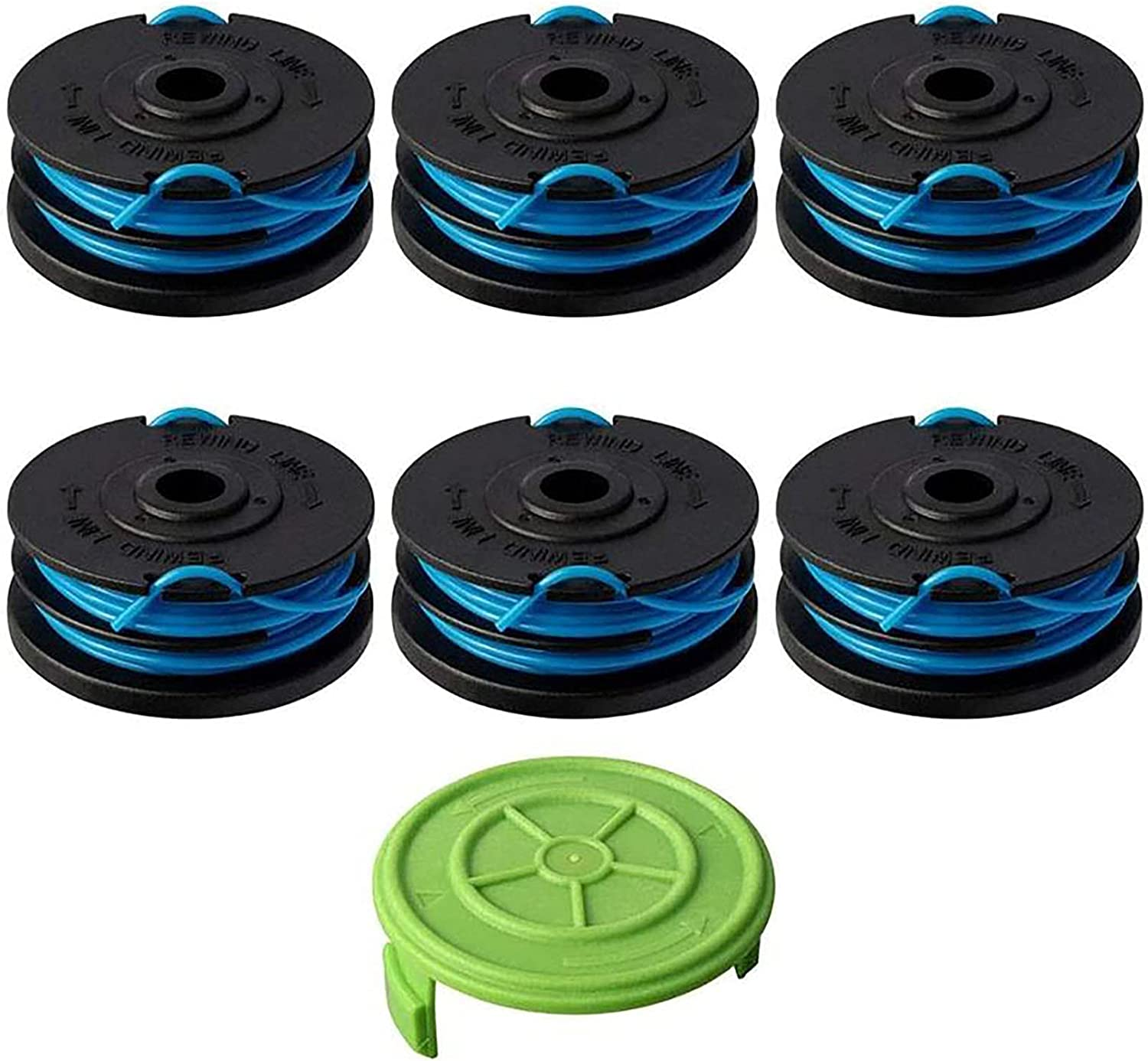 """Details about  /6 Pc Replacement Spool for Greenworks 2900719,2101602 - 20ft 0.065/"""" A"""