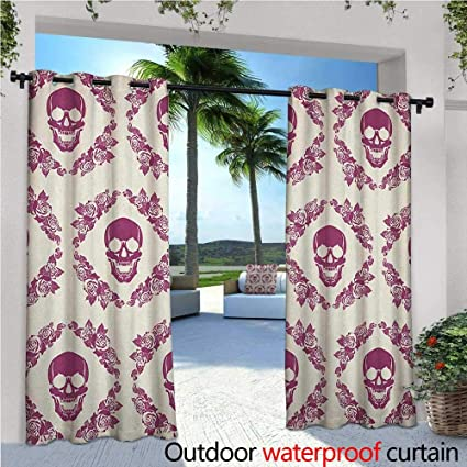 Phenomenal Amazon Com Sugar Skull Outdoor Privacy Curtain For Pergola Home Interior And Landscaping Spoatsignezvosmurscom