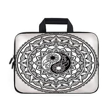 39b67735cd6f Amazon.com: CANCA Ying Yang Laptop Carrying Bag Sleeve,Ornate Symbol ...