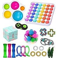 Fidget Toy Pack, Sensory Fidget Toys Set, Figetget Toys Pack Figit Toys Pack with Simple Dimple Anti-Anxiety Tools…