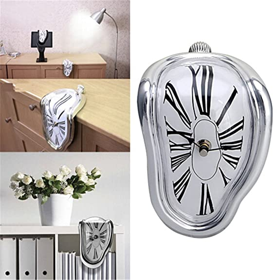 Amazon.com: liveleafa Melting Clock Home Art Design Large Hanging Wall Clocks Silent Clock Home Decor Fashion Wall Watches Relojes Decoration: Home & ...