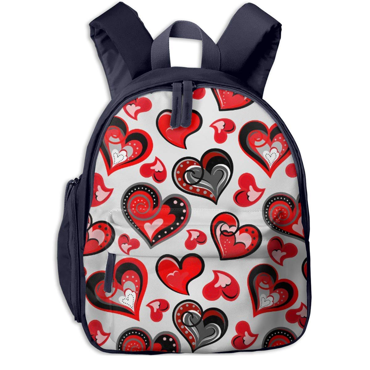 Sd4r5y3hg School Backpack for Girls Boys, Kids Cute Cute Cute rot schwarz Heart Cartoon Backpacks Book Bag B07MGSRWQQ Daypacks Ausgezeichnete Funktion 8a3051