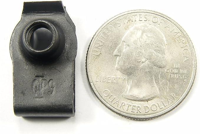 10mm Hex 20 pcs M6-1.0mm x 16mm Long #379 GM Truck Body Bolts /& U-nut Clips