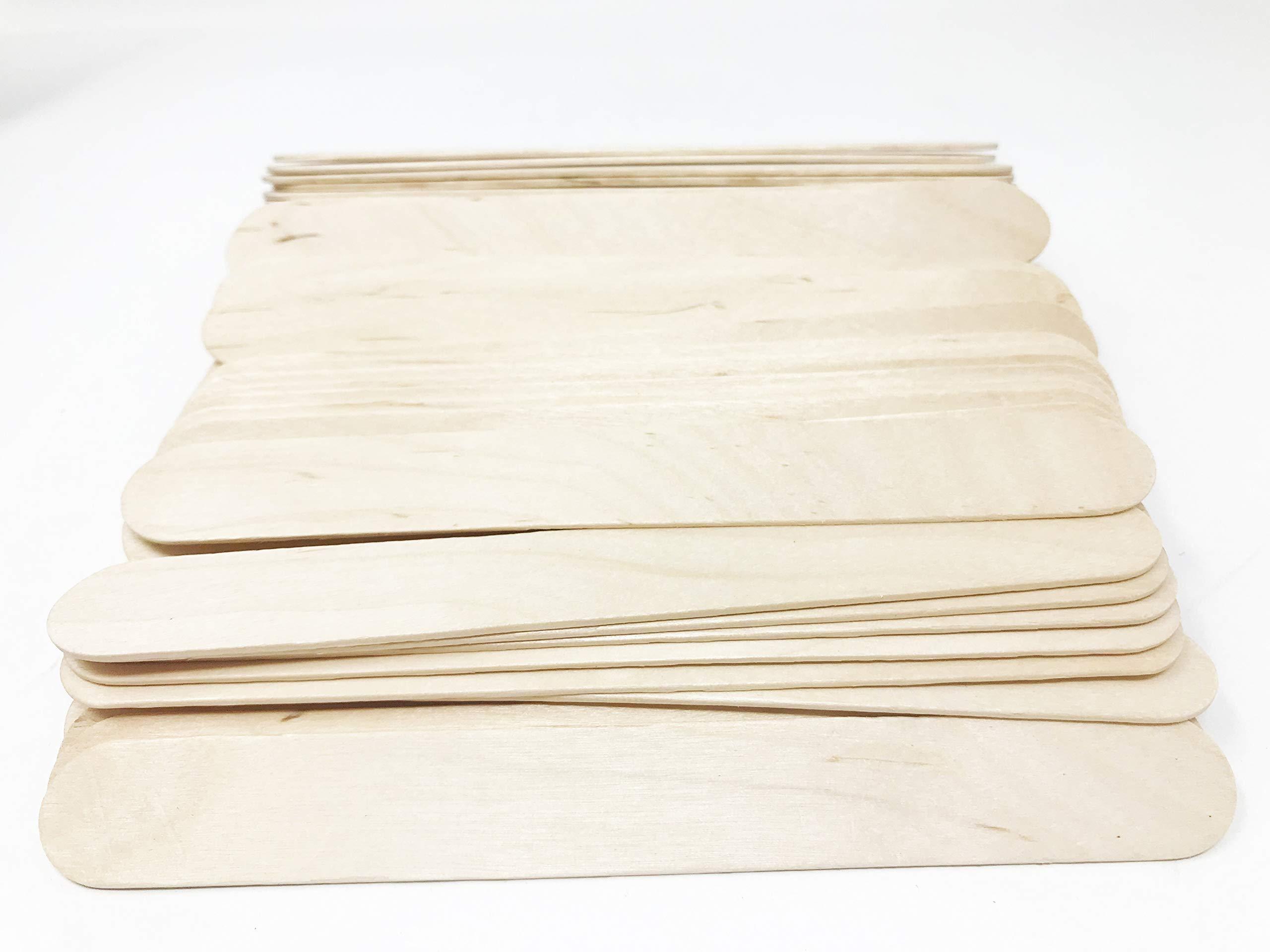 Tongue Depressors Non-STERILE Standard Size 6''x0.75'', Premium Natural Birch Wood Craft Sticks (2500 PCS (5 BX)) by Starryshine (Image #3)