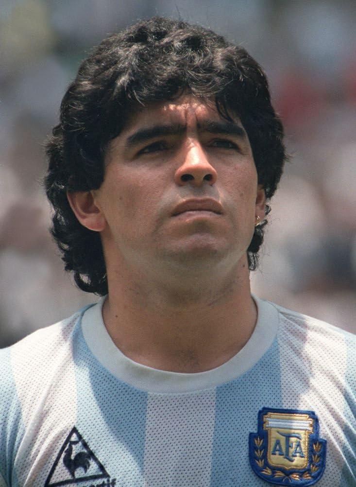 Amazon Com Neuhorris 005 Diego Maradona 14x19 Inch Silk Poster Aka Wallpaper Wall Decor Home Kitchen