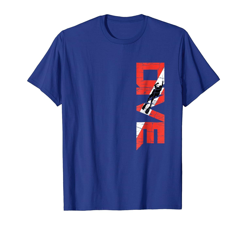 Vintage Distressed Scuba Diving T Shirt DIVE Shirt-Colonhue
