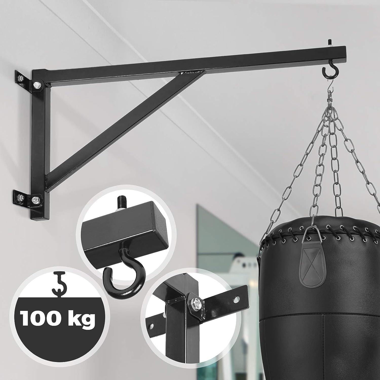 Potence murale Pro simple 60kg pour sac de frappe Metal boxe