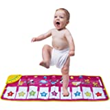 Musical Mat,Kingseye Baby Early Education Music Piano Keyboard Carpet Animal Blanket Touch Play Safety Learn Singing funny Toy for Kids (Purple)