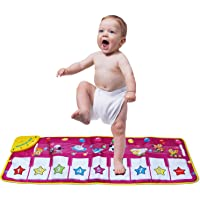 zoordo Musical Mat,Kingseye Baby Early Education Music Piano Keyboard Carpet Animal Blanket Touch Play Safety Learn…