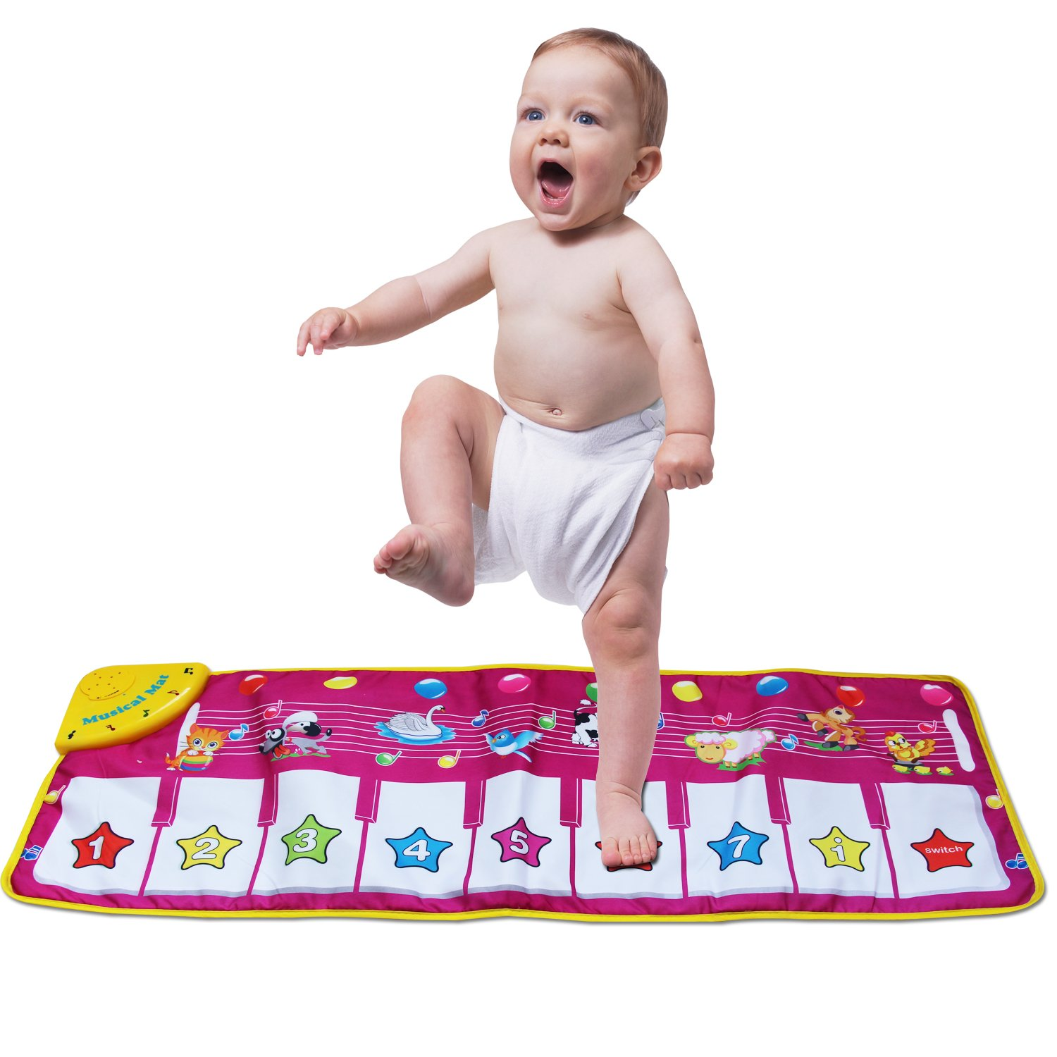zoordo Musical Mat,Kingseye Baby Early Education Music Piano Keyboard Carpet Animal Blanket Touch Play Safety Learn Singing Funny Toy for Kids (Purple) by zoordo