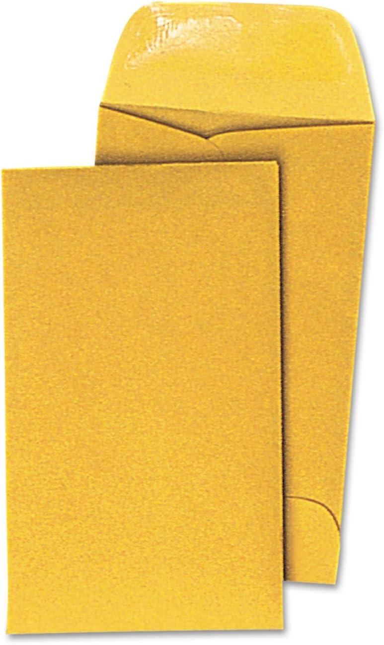 UNV35303 United STATIONERS Envelope,#7 BRN Coin,BRKR OP