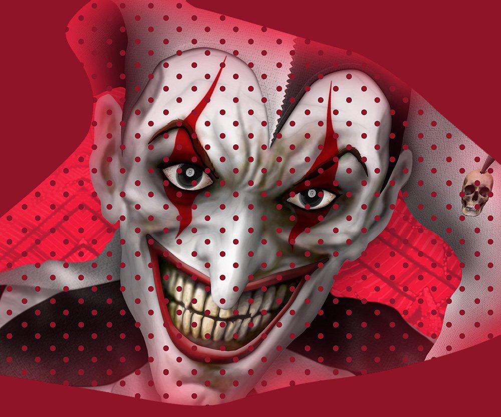 Honda TRX 450R Graphics Kit - The Joker - Red Background, Black & White Joker