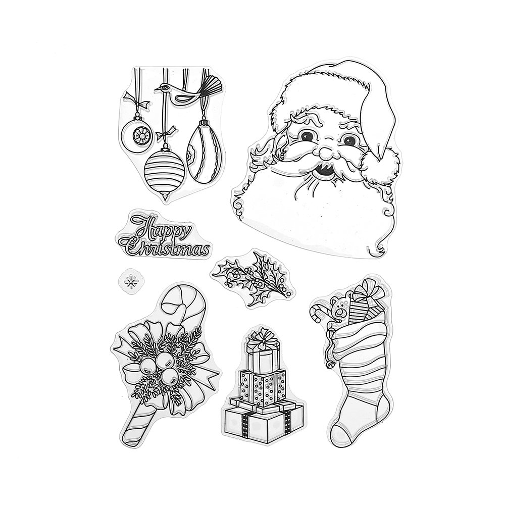 DECORA Santa Rubber Clear Stamp for Christmas Card Making Decoration 4336990330