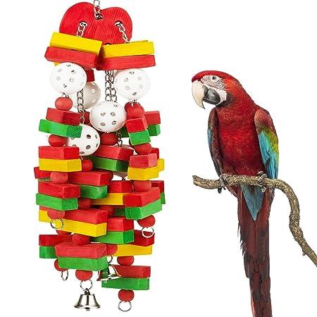 Zeagro - Bloque de pájaros con Campanas para Loros y pájaros ...