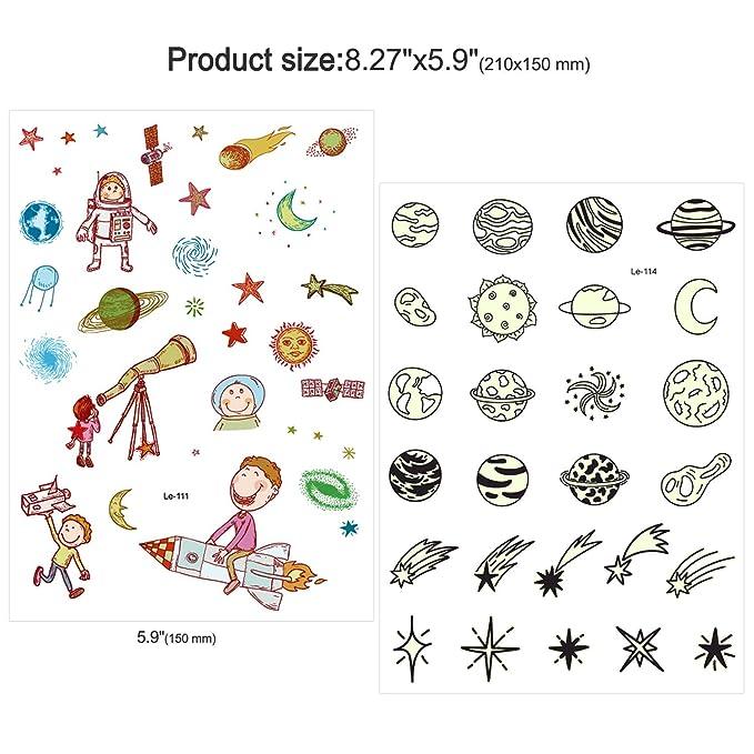 Howaf Tatuajes Temporales Para Niños Niñas, 82pcs Coches de ...