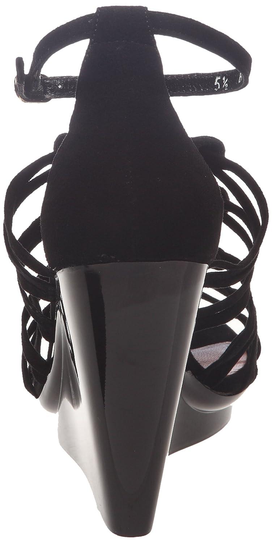 Robert Clergerie Jalias_Velours Noir Cale Laqué Noir - Sandalias de cuero para mujer, color negro, talla 37