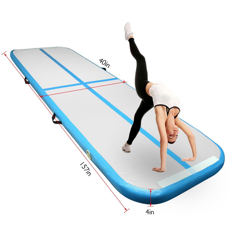 FBSPORT airtrack Pista de Aire para airtrack Gimnasia 1m de Longitud Airtrack Colchoneta Inflable Tumbling Gymnastic de Entrenamiento Alfombrillas para Gimnasio//Yoga//ni/ños//Deportes