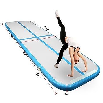 FBSport Alfombrilla hinchable para gimnasia Airtrack de 4 m ...