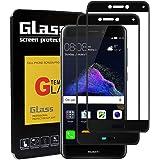 LeeIU [2 Stück Panzerglas Schutzfolie für Huawei P8 Lite 2017, Panzerglas Displayschutzfolie für Huawei P8 Lite 2017, Anti-Kratzen, 9H Echt Glas, Anti-Öl & Fingerabdruck, 3D Touch Kompatibel(Schwarz)