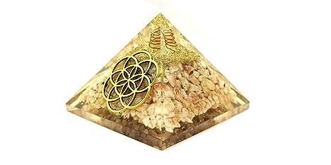 Amazon com: Realcrystalstore Sunstone Orgone Pyramid with