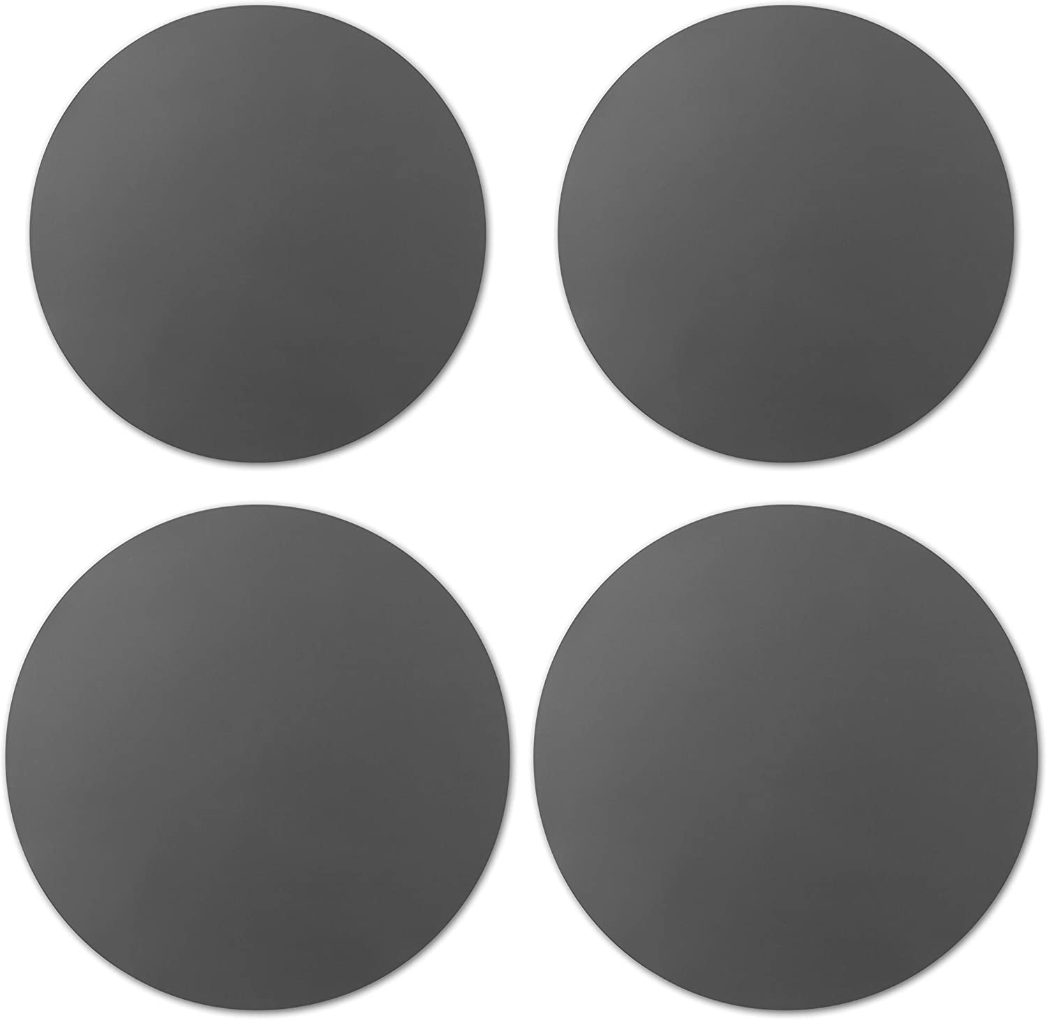 GROBRO7 4Pcs Silicone Microwave Mats Grey Round Hot Pot Pans Pad Holders Heat Resistance Nonstick Dishwasher Safe Splatter Guard Oven Baking Turntable Mat for Kitchen Countertop 2 Size 10/&12 Inch