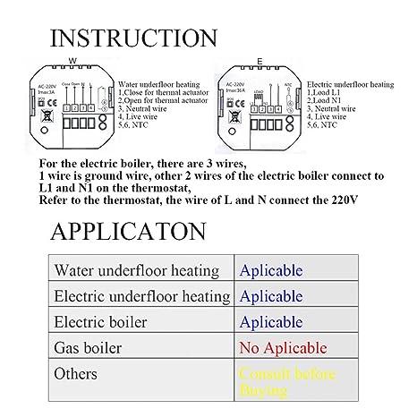 Wifi termostato inteligente controlador digital programable inalambrico por smartphone APP / o pantalla tactil 16A programador semanal: Amazon.es: Bricolaje ...