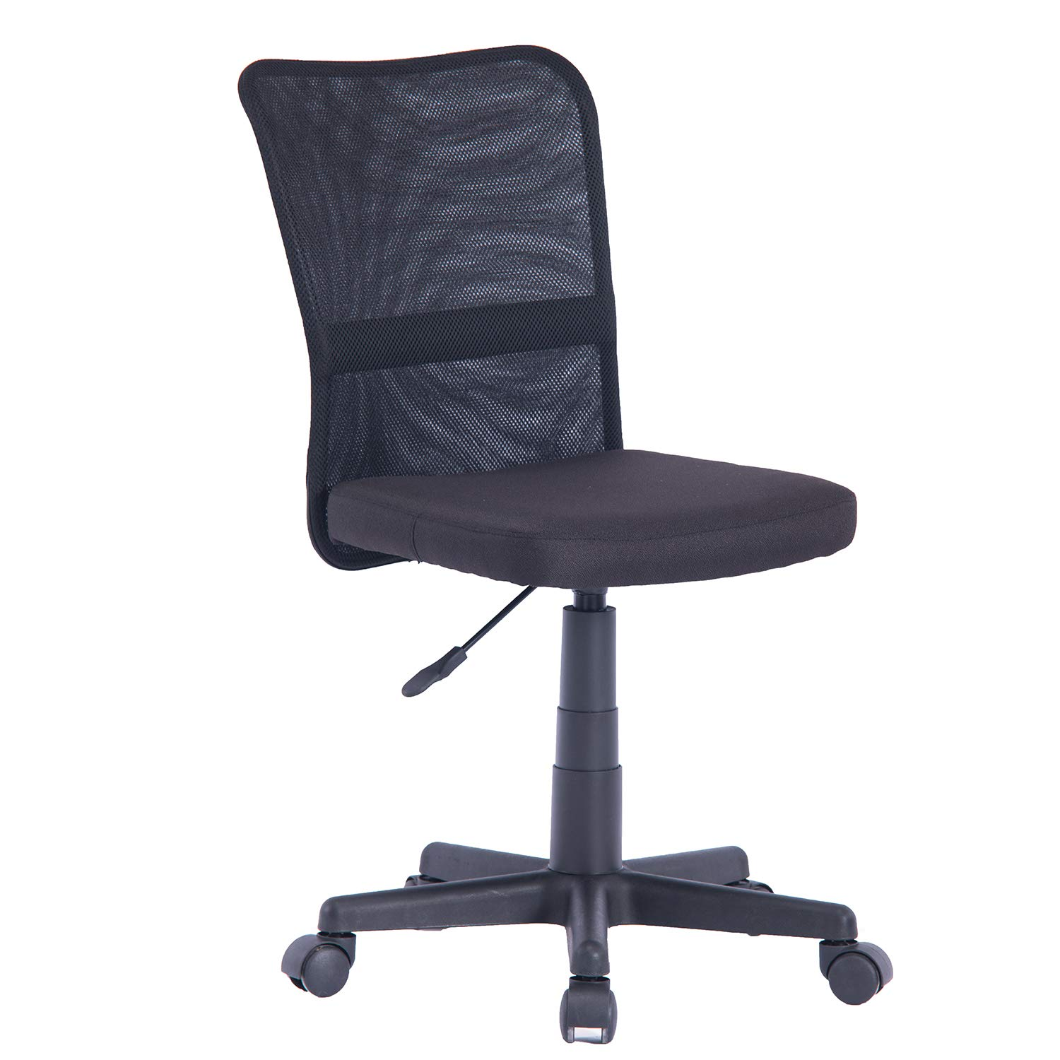 Home Ergonomic Mesh Medium Back Milan Fabric Seat Computer Desk Task Office Chair Without Arm ELEM001 (Black) by OFFICEFURNITURE ONLINE