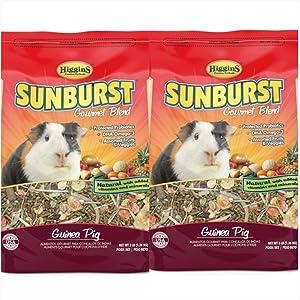 Higgins 2 Pack Sunburst Gourmet Guinea Pig Food. 6 Pounds Total.