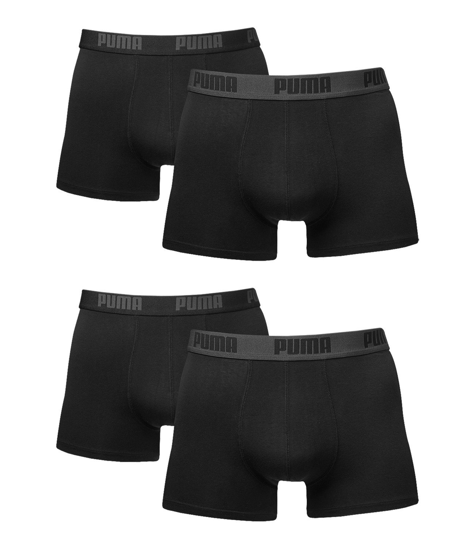 Puma Caballero Basic Boxershort Calzoncillos Pack de 4 en Todos los Colores