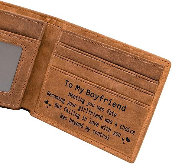 Mom Son Wallet - Engraved Leather Men Wallet-The Perfect Personalized Son Gift From Mom And Dad