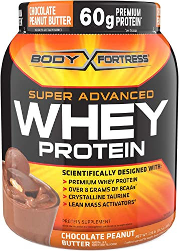 Body Fortress Super Advanced Whey Protein, Chocolate Peanut Butter, 1.95 lb. 885 g