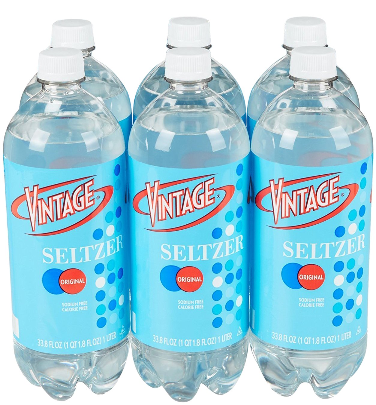 Amazon.com : Vintage Seltzer Water, 33.8 fl oz Bottle (6-Pack) : Grocery &  Gourmet Food
