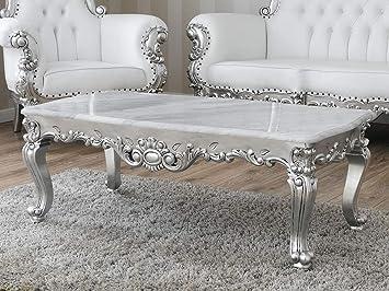 Table Style Basse Baroque De Feuille Argent Salon Regina Moderne UMqSzVp