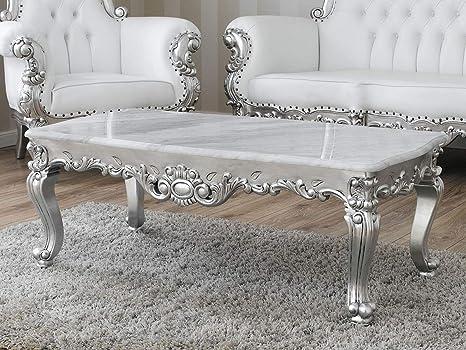 Tavolo Bianco Barocco.Tavolino Da Salotto Regina Stile Barocco Moderno Foglia